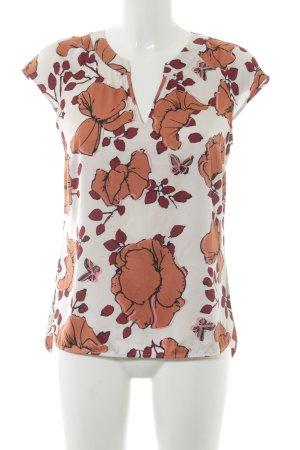 Comma Blouse à manches courtes motif floral style romantique
