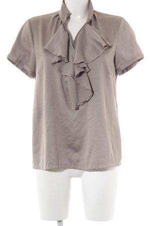 Comma Kurzarm-Bluse graubraun Elegant