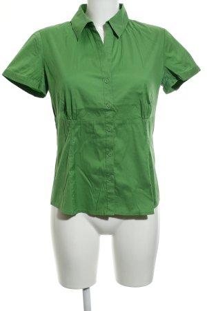 Comma Blouse à manches courtes vert style classique