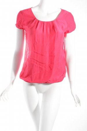 Comma Short Sleeved Blouse raspberry-red classic style