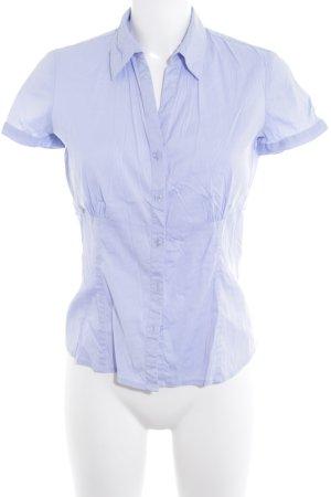 Comma Blouse à manches courtes bleu azur style d'affaires