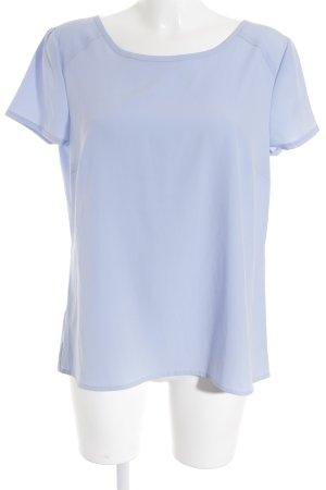 Comma Kurzarm-Bluse himmelblau Elegant