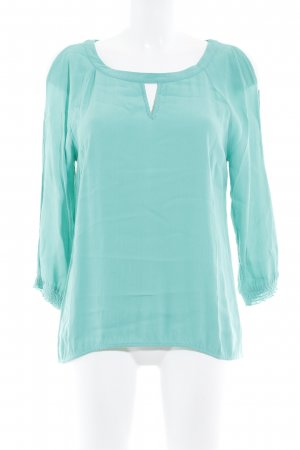 Comma Kurzarm-Bluse mint Casual-Look