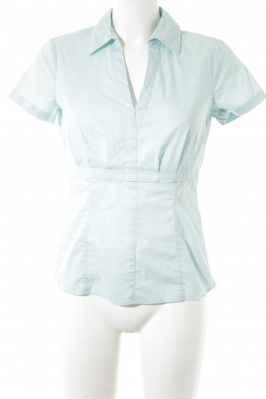 Comma Kurzarm-Bluse mint Empire-Look