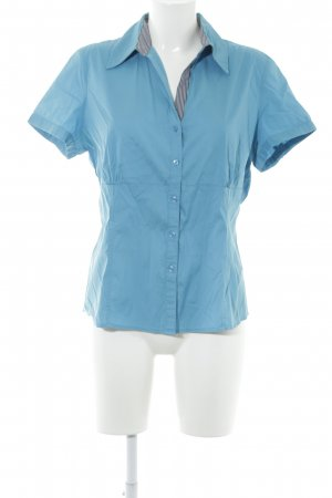 Comma Short Sleeved Blouse neon blue casual look