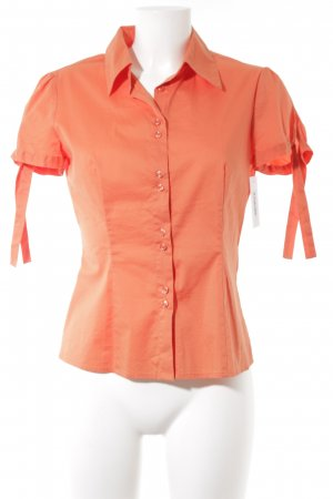 Comma Kurzarm-Bluse orange Brit-Look