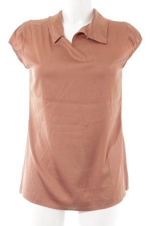 Comma Kurzarm-Bluse rostrot Elegant