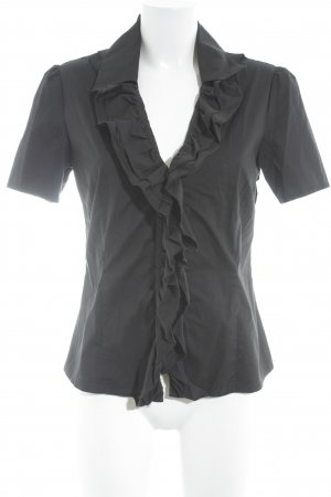 Comma Kurzarm-Bluse schwarz Business-Look