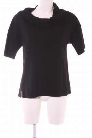 Comma Kurzarm-Bluse schwarz Casual-Look