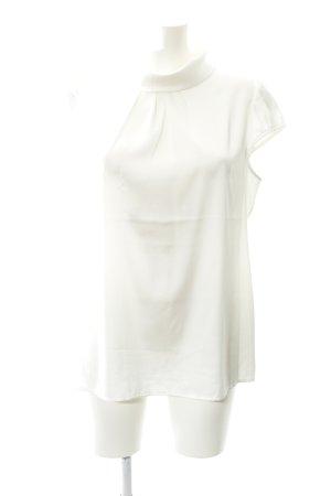 Comma Blouse à manches courtes blanc élégant