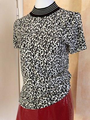 Comma Kurzarm Shirt Strick Animal Print , Leo Gr.36