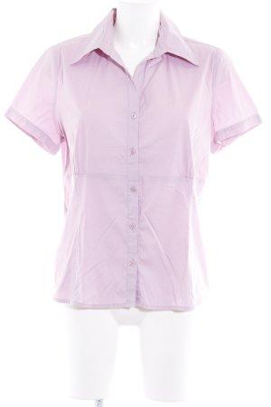 Comma Shirt met korte mouwen mauve elegant