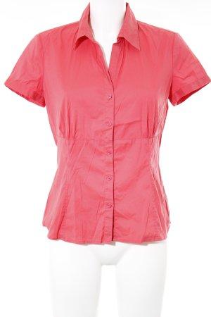 Comma Shirt met korte mouwen lichtrood simpele stijl