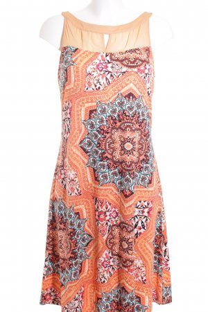 Comma Kurzarmkleid grafisches Muster Beach-Look