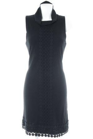 Comma Kurzarmkleid schwarz Elegant