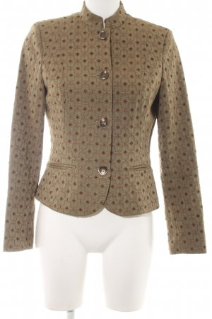 Comma Short Jacket green grey graphic pattern extravagant style