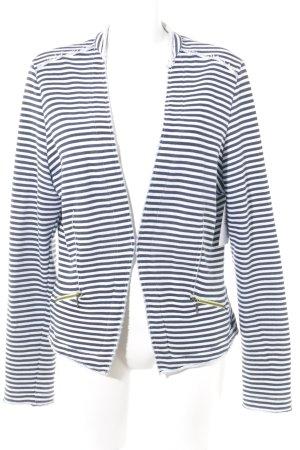 Comma Short Jacket azure-dark blue striped pattern casual look