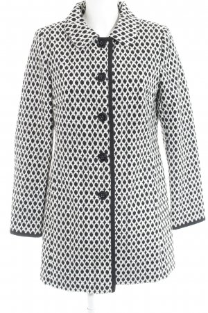 Comma Short Coat black-natural white abstract pattern elegant