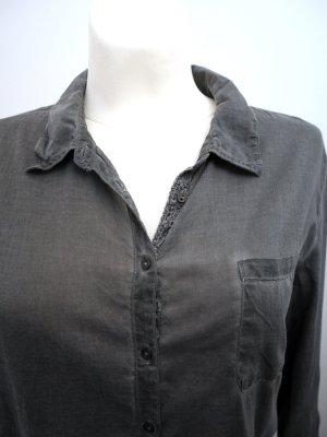COMMA: Langärmlige Bluse in Wash-Out-Optik * Grau * 40 * wieNEU!!