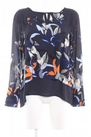 Comma Long Sleeve Blouse abstract pattern casual look