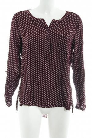 Comma Long Sleeve Blouse dusky pink-bordeaux abstract pattern casual look