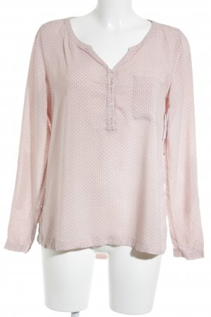 Comma Langarm-Bluse beige-altrosa florales Muster Casual-Look