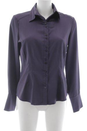 Comma Langarm-Bluse braunviolett Elegant
