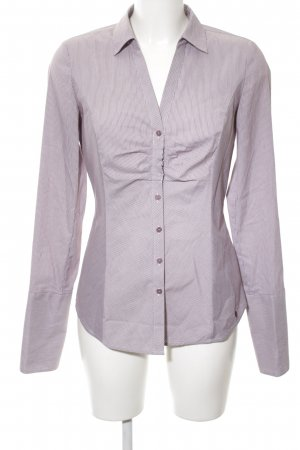 Comma Langarm-Bluse lila Streifenmuster Business-Look