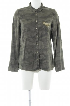 Comma Langarm-Bluse Camouflagemuster Military-Look