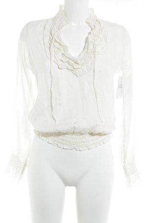 Comma Langarm-Bluse creme Elegant
