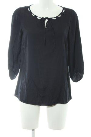Comma Langarm-Bluse dunkelblau Elegant