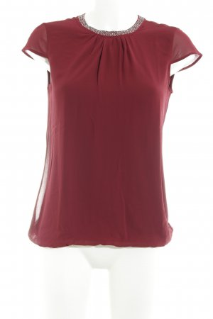 Comma Langarm-Bluse dunkelrot Elegant