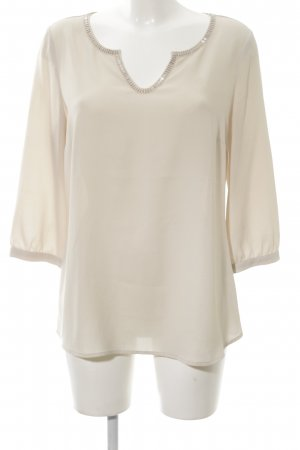 Comma Langarm-Bluse creme Business-Look