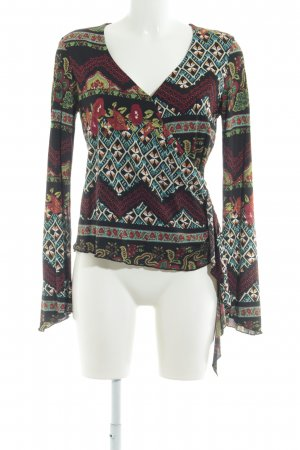 Comma Langarm-Bluse florales Muster Casual-Look