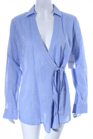Comma Langarm-Bluse hellblau Casual-Look