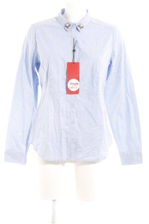 Comma Langarm-Bluse himmelblau Casual-Look