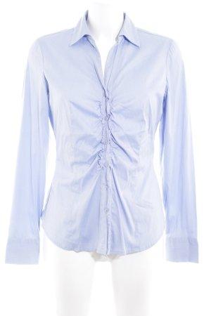 Comma Langarm-Bluse kornblumenblau klassischer Stil
