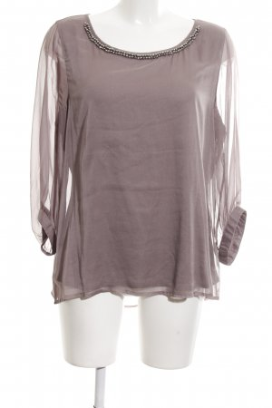 Comma Langarm-Bluse lila Party-Look