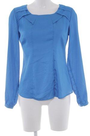 Comma Langarm-Bluse neonblau Casual-Look