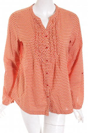 Comma Langarm-Bluse orange Business-Look