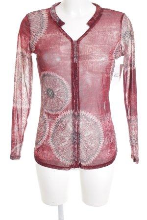Comma Langarm-Bluse Ornamentenmuster Gypsy-Look