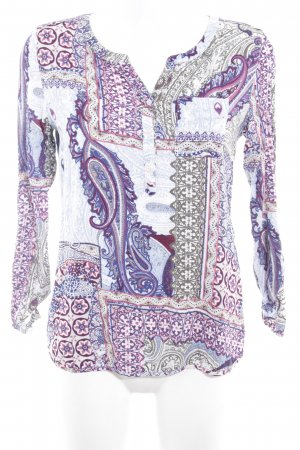 Comma Langarm-Bluse Paisleymuster Casual-Look