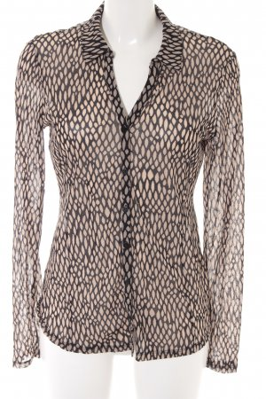 Comma Long Sleeve Blouse black-beige abstract pattern casual look