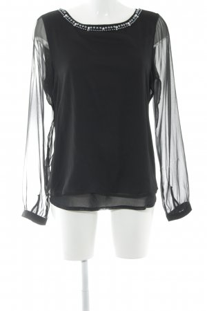 Comma Langarm-Bluse schwarz Elegant