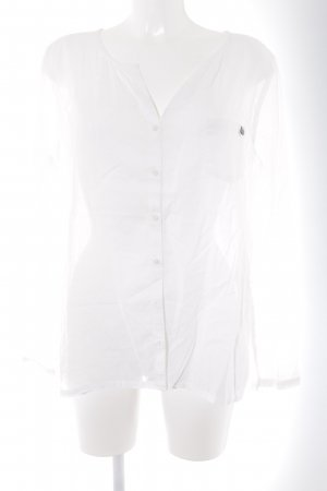 Comma Langarm-Bluse weiß Business-Look
