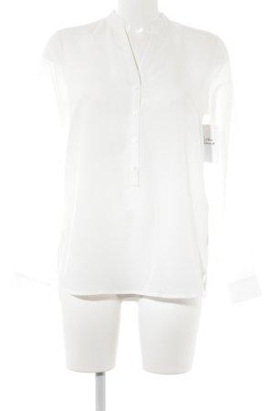 Comma Langarm-Bluse weiß klassischer Stil