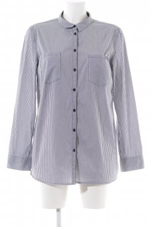 Comma Long Sleeve Shirt white-blue striped pattern casual look