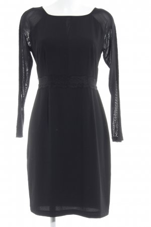 Comma Langarmkleid schwarz Elegant