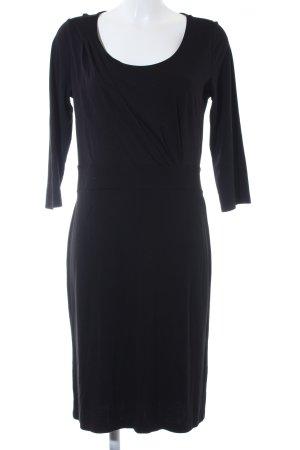 Comma Langarmkleid schwarz schlichter Stil