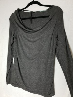 Comma Cowl-Neck Shirt grey
